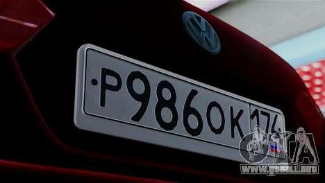 Volkswagen Jetta Stance para GTA San Andreas vista posterior izquierda