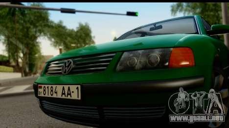 Volkswagen Passat B5 para GTA San Andreas vista posterior izquierda