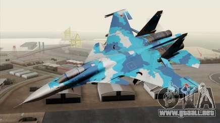 SU-33 Flanker-D Blue Camo para GTA San Andreas