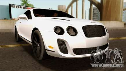 Bentley Continental SS 2010 para GTA San Andreas