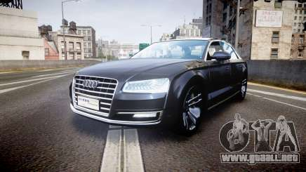 Audi A8 L 2015 Chinese style para GTA 4