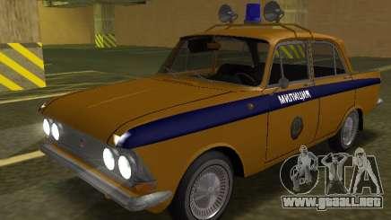 Moskvich 408 De La Policía para GTA San Andreas