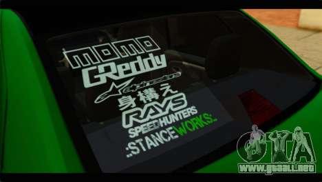 Dacia Logan Stance para GTA San Andreas vista hacia atrás