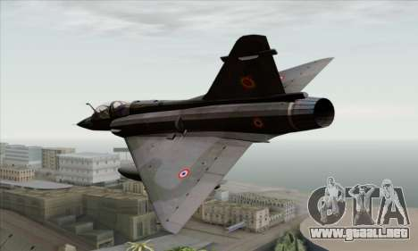 Dassault Mirage 2000-N SAM para GTA San Andreas left