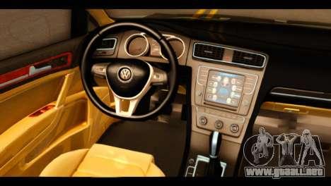 Volkswagen Golf Mk7 2014 para la visión correcta GTA San Andreas