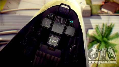 F-22 Raptor Razgriz para la visión correcta GTA San Andreas