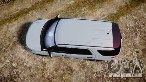 Ford Explorer Police Interceptor 2013 [ELS] para GTA 4 visión correcta