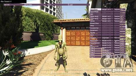 GTA 5 Skin Control v1.1 segunda captura de pantalla