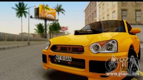 Subaru Impreza WRX STI 2005 Romanian Edition para GTA San Andreas vista posterior izquierda