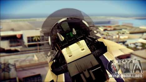 FA-18D Hornet RCAF para GTA San Andreas vista hacia atrás