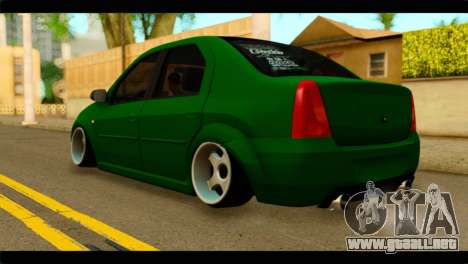 Dacia Logan Stance para GTA San Andreas left