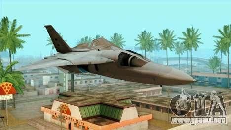 General Dynamics F-111 Aardvark para GTA San Andreas vista hacia atrás