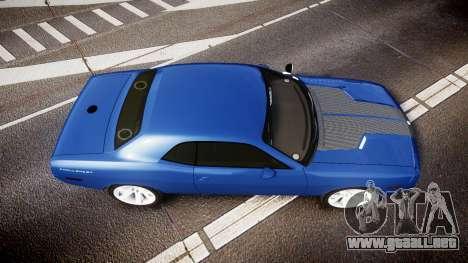 Dodge Challenger RT 2006 Pursuit Vehicle [ELS] para GTA 4 visión correcta