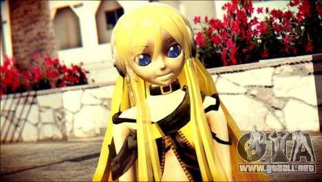 Lilly from Vocaloid para GTA San Andreas tercera pantalla