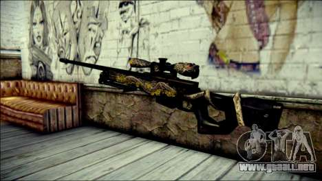 AWM Infernal Dragon CrossFire para GTA San Andreas segunda pantalla