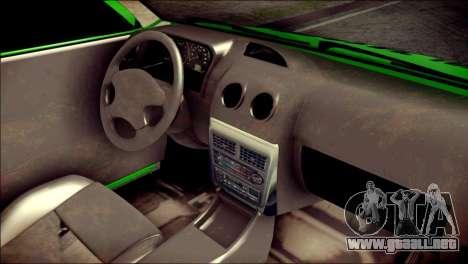 Kia Pride 141 Iranian Taxi para la visión correcta GTA San Andreas