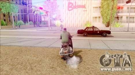 Piaggio Vespa para la visión correcta GTA San Andreas