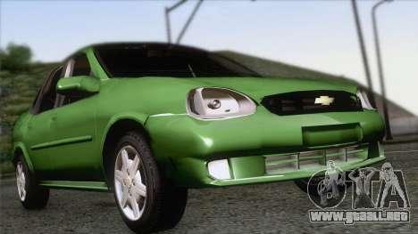 Chevrolet Corsa Classic 2009 para GTA San Andreas vista hacia atrás