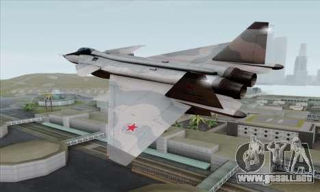 MIG 1.44 Flatpack Russian Air Force para GTA San Andreas left