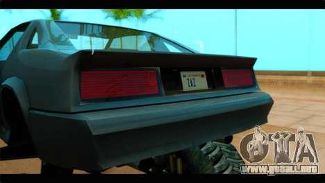 Monster Buffalo para GTA San Andreas vista hacia atrás