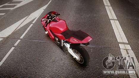 Honda CBR600RR para GTA 4 Vista posterior izquierda