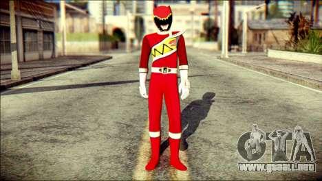 Power Rangers Kyoryu Red Skin para GTA San Andreas
