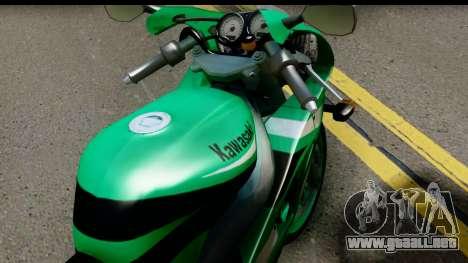 Kawasaki ZX-9R para la visión correcta GTA San Andreas