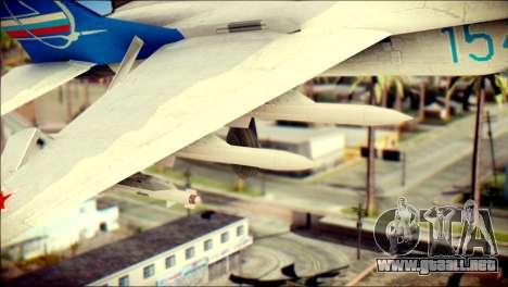MIG-29 Fulcrum Reskin para la visión correcta GTA San Andreas