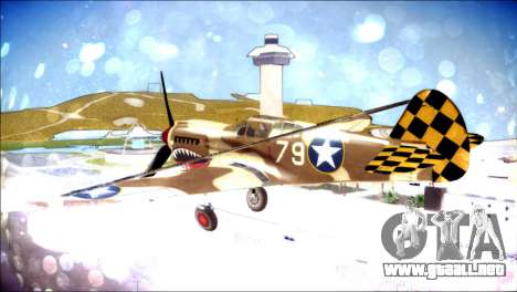 P-40E 325th Fighter Group para GTA San Andreas left