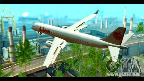 Embraer 190 Lion Air para GTA San Andreas left