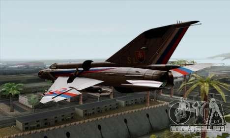MIG-21MF Slovak Air Force SLP para GTA San Andreas left