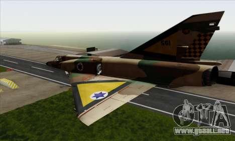 Dassault Mirage III AFI para GTA San Andreas left