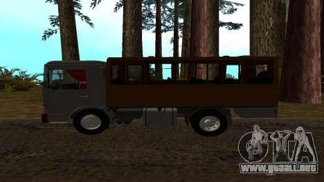 Roman Bus Edition para GTA San Andreas left