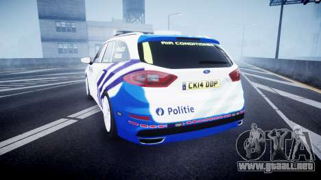 Ford Fusion Estate Belgian Police [ELS] Dog Unit para GTA 4 Vista posterior izquierda