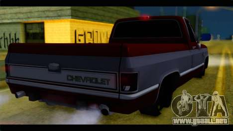 Chevrolet C10 Low para GTA San Andreas left