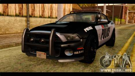 NFS Rivals Ford Shelby GT500 Police para GTA San Andreas