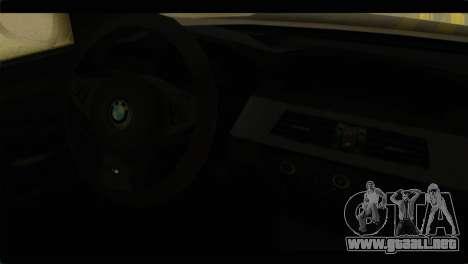 BMW M5 E60 2009 para la visión correcta GTA San Andreas