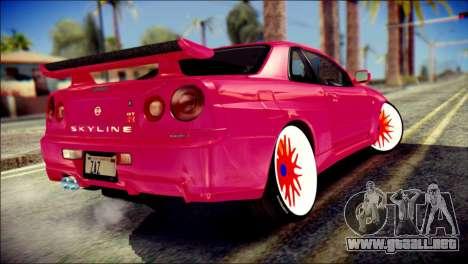 Nissan Skyline GTR V Spec II para GTA San Andreas left