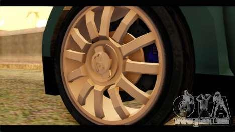 Bugatti Veyron 16.4 para GTA San Andreas vista posterior izquierda