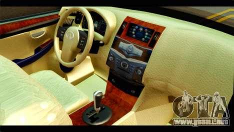 Infiniti QX56 para la visión correcta GTA San Andreas