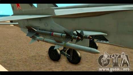 MIG-31 Soviet para la visión correcta GTA San Andreas