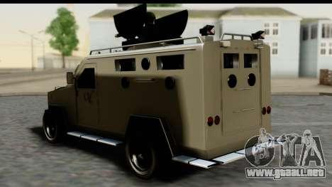 Camion Blindado para GTA San Andreas left