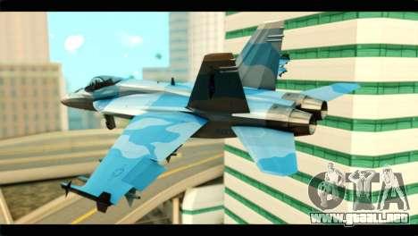 FA-18 Super Hornet Aggressor Squadron para GTA San Andreas left
