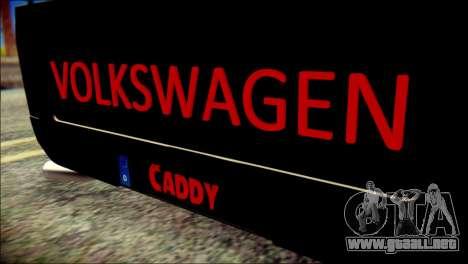 Volkswagen Caddy Widebody Top-Chop para GTA San Andreas vista hacia atrás