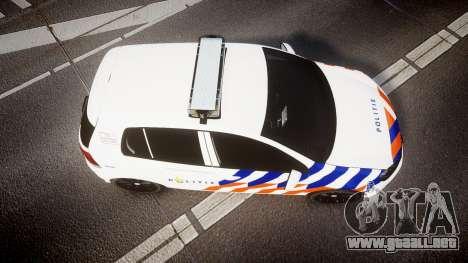 Volkswagen Golf Mk6 Dutch Police [ELS] para GTA 4 visión correcta