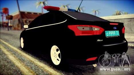 Ford Focus ДПС para GTA San Andreas left