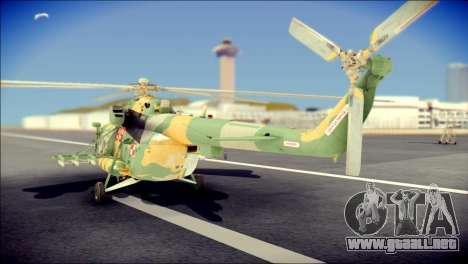 Mil Mi-8 Polish Air Force para GTA San Andreas left