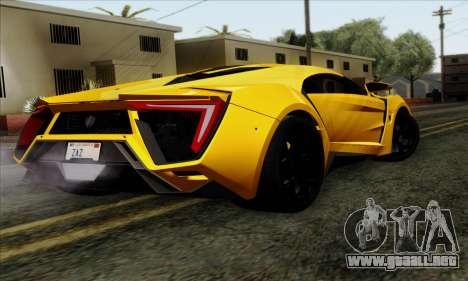 Lykan Hypersport 2014 Livery Pack 2 para GTA San Andreas left
