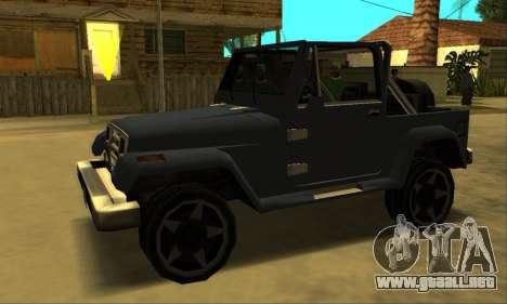 Mesa Final para GTA San Andreas vista posterior izquierda