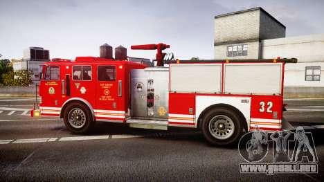 GTA V MTL Firetruck para GTA 4 left